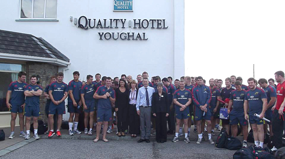 Munster team at quality hotel youghal