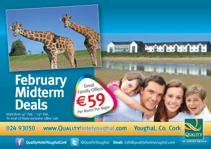 Holiday deals €59 per room per night