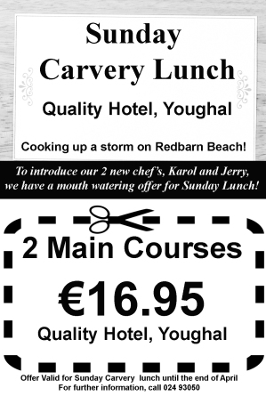 Lunch Voucher at Quality Hotel Youghal