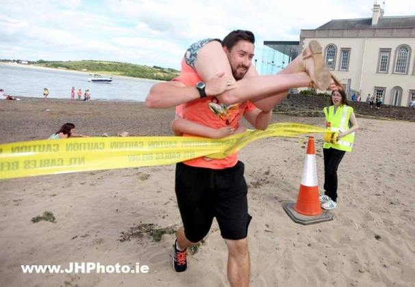 Wife carrying competition in Youghal