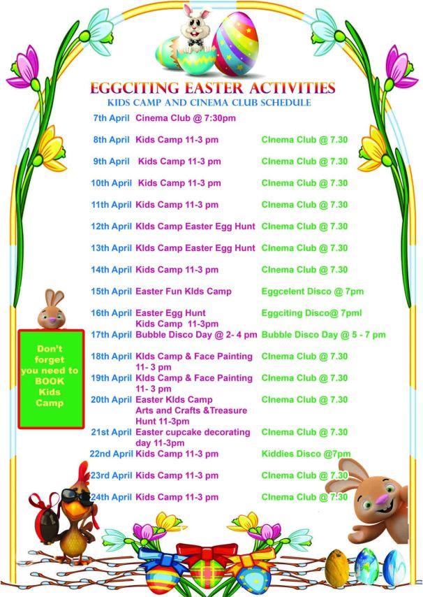 Easter Kids Camp activities
