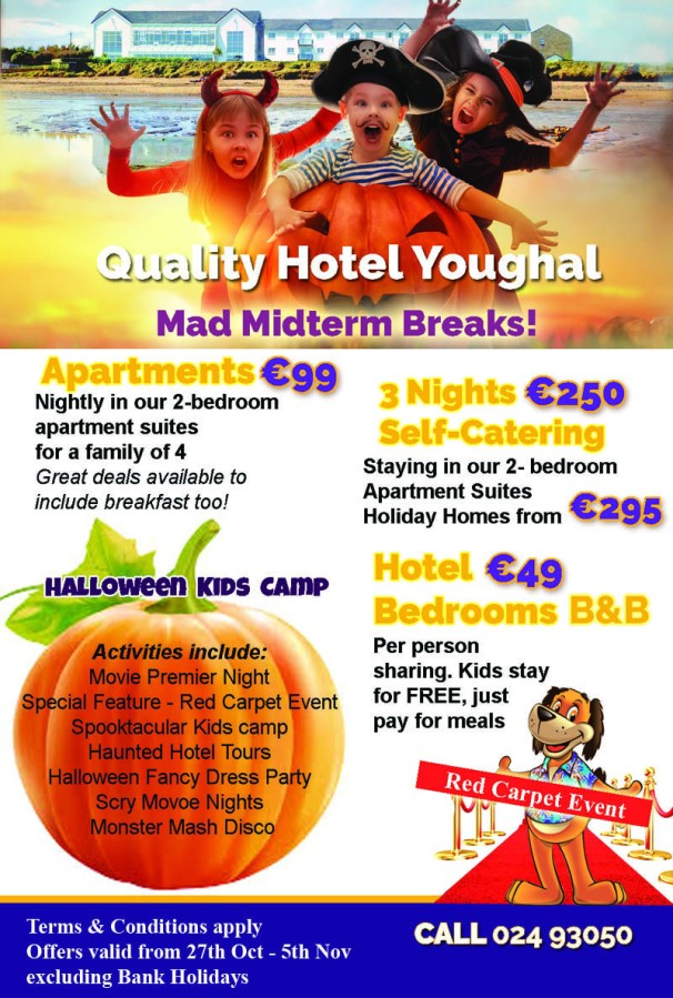 Halloween MIdterm Breaks at Quality Hotel