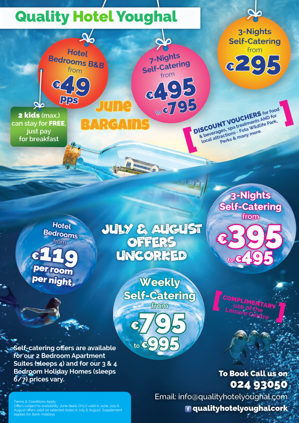 Summer bargains at Quality Hotel Youghal