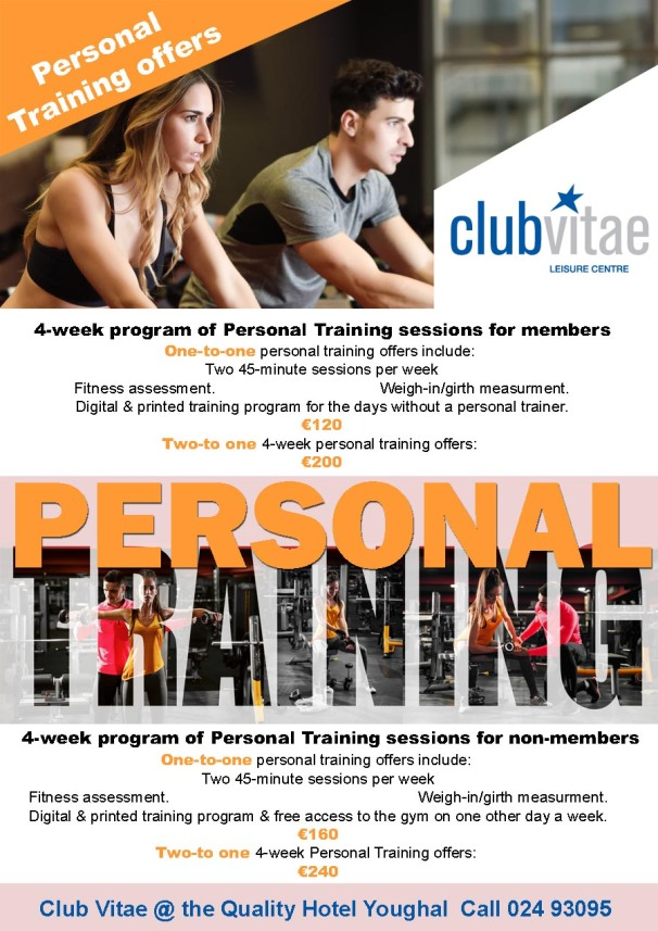 Personal Training programs in East Cork