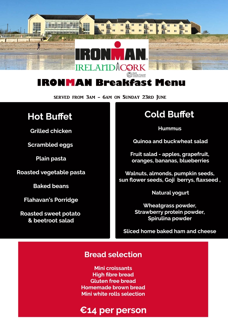 Athletes breakfast for Ironman