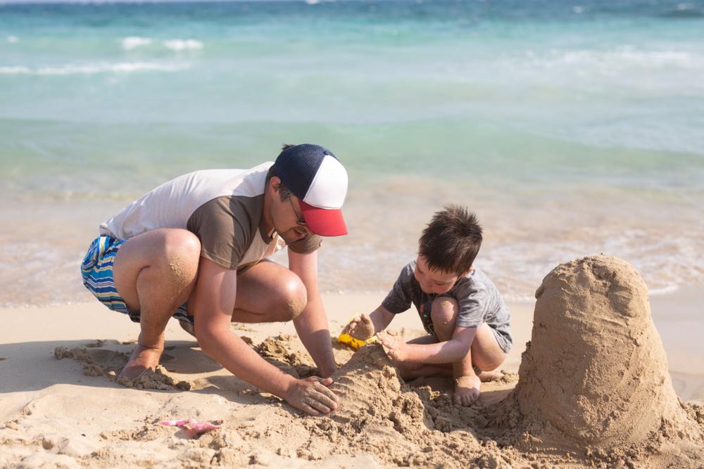 Building sandcastles with Dad
