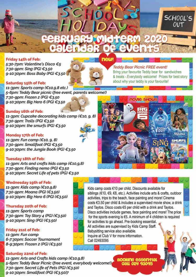 February Midterm Kids Activities